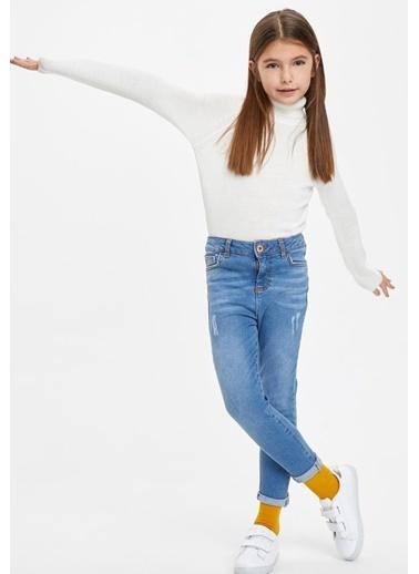 DeFacto Kız Çocuk Skinny Fit Jean Pantolon Mavi
